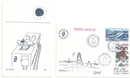 YT PA 66 Glace De Pression - YT PA 86 Mouflon - Opération D 59 - Dumont D'Urville - Terre Adélie - 03/11/1986 - Lettres & Documents