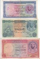 EGYPT 1 5 10 EGP POUNDS 1960 P-30 P-31 P-32 Sig/REFAEI #11 LOT VF */* - Egypt