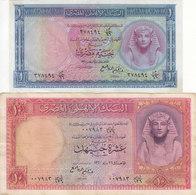 EGYPT 1 10 EGP POUNDS 1960 P-30 P-32 Sig/REFAEI #11 LOT VF */* - Egypt