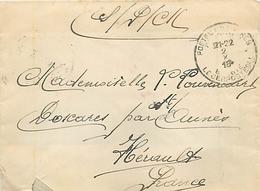 LETTRE ARMEE BELGE EN FRANCE En FRANCHISE MILITAIRE - 1916 - SODAT Cie. De MITRAILLEUSES - B-264 ARMEE BELGE - Marcophilie (Lettres)