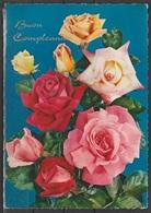 Cartolina - Buon Compleanno - Viaggiata 1963 - Fiori