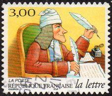 Oblitération Cachet à Date Sur Autoadhésif De France N°   22 Ou 3160 - Journée De La Lettre. L'écrivain Voltaire - France