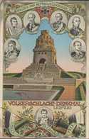 Völkerschlacht-Denkmal, Gneisenau, Bülow, Blücher, York, Helden Der Befreiungskriege, Leipzig 1813, Postkarte, Militär - Guerres - Autres