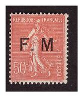 FM  N° 6 A Neuf Charnière Sans Point Aprés Le M - Militärpostmarken