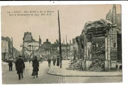 CPA_Carte Postale-France-Lille Place Richebé Et Rue De Béthune Après Bombardement-1914 VM11934 - Lille