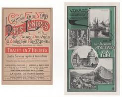 Chemins De Fer De Paris à Orléans Et Du Midi. Chemin De Fer Du Nord - Paris à Londres. Lot De 2 Documents - Publicités