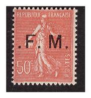 FM  N° 6 B Neuf Charnière Point Avant Et Après Le F - Militärpostmarken