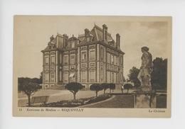 Ecquevilly Environs De Meulan : Le Château (cp N°11) Statue Jardin - France