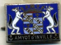 Insigne Aviso Dragueur AMYOT D INVILLE___drago O.M - Navy