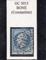 Algérie - N° 22 Obl GC 5015 Bône - 1862 Napoléon III