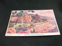 ALBERGO HOTEL VILLA PAGODA ROMANTIK   VIA CAPOLUNGO   GENOVA NERVI  LIGURIA - Hotels & Restaurants