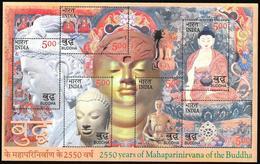 India/Inde: 2550 Anni Di Mahaparinirvana Del Buddha, 2550 Ans De Mahaparinirvana Du Bouddha - Buddhism