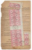 1932 - BORDEREAU Des VALEURS à RECOUVRER De LANGOIRAN (GIRONDE) DAGUIN Avec TAXE SPECTACULAIRE Dont COIN DATE !! - Marcofilie (Brieven)