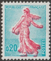 France 1960 Y&T 1233  Curiosité : Semeuse Rouge Vif Sortant Du Cadre - Kuriositäten: 1960-69 Ungebraucht