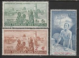 Côte Des Somalis Poste Aérienne N° 8, 9, 10 * - Nuevos