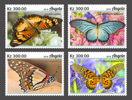 ANGOLA 2019 - Butterflies, 4v. Official Issue [ANG190208a] - Schmetterlinge