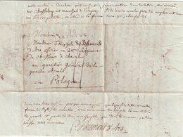 "FRANCE : MARQUE POSTALE . "" 16 SAINTES "" . TAXEE . 1807 . - 1801-1848: Precursori XIX"