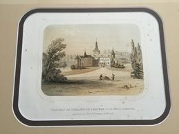 Belle Gravure Ancienne Château De Belgique De Seraing Le Chateau Commune De Jehay Bodegnée Comtesse De Hamal - Documents Historiques