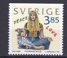 FLOWER CHILD FASHION MODE LIFE STILE HIPPIES HIPPIE BLOMENKIND YOUTH CULTURE SWEDEN 1996 MNH Mi 1965 - Kind & Jugend
