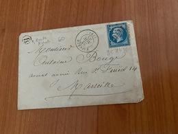 LETTRE  Du 23/11/1865 Pour  MARSEILLE - GC 1476 FAYENCE -Boite Rurale B ( Vallon De Chautard ) Port Offert - Postmark Collection (Covers)