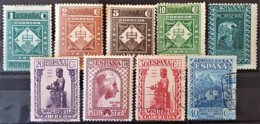 SPAIN 1931 - MLH/canceled - Sc# 501-509 - 1931-50 Unused Stamps