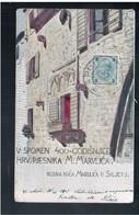 CROATIA  V Spomen 400- Codišnjic Hrv Pjesnika M. Marvlica 1902 Old Postcard - Croacia