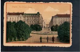 CROATIA Zagreb Trg Franje Josipa Ca 1920 Old Postcard - Croacia