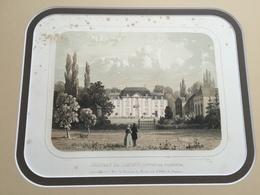 Belle Gravure Ancienne Château De Belgique De Limont Canton De Waremme à La Baronne De Macors Née Othée De Limont - Documents Historiques