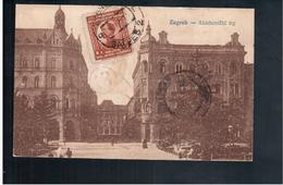 CROATIA Zagreb Akademicki Trg Ca 1915 Old Postcard - Croacia