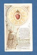 IMAGE PIEUSE HOLY CARD SANTINO IMMAGINETTE SACRE  TURGIS PAPA LEONE XIII LITANIES COEUR DE JESUS - Images Religieuses