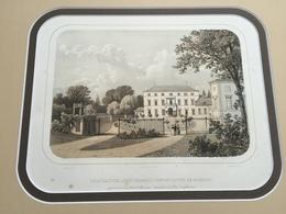 Belle Gravure Ancienne Château De Belgique De Logchamps Commune De Waremme à La Baronne Selys Longchamps - Documents Historiques