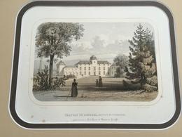 Belle Gravure Ancienne Château De Belgique De Donceel Canton De Waremme Au Baron De Chestret De Haneffe - Documents Historiques