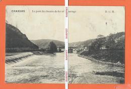 CHANXHE  -  Le Pont Du Chemin De Fer Et Le Barrage  -  1913 - Sprimont
