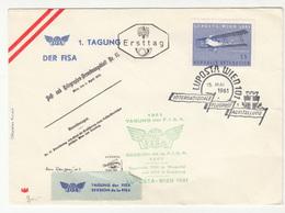 Austria 1961 1. Tagung Der FISA LUPOSTA FDC Special Cover B200120 - Airplanes