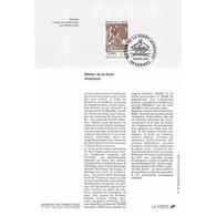 1995 Notice Philatélique - Métiers De La Forêt. Ardennes - Documenten Van De Post