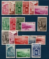MON  1939/41  Vues De La Principauté  N°YT 169-183   ** MNH - Neufs