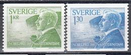 Schweden 1976 - Nobelpreistraeger Des Jahres 1916, Mi-Nr. 970/71, MNH** - Suède