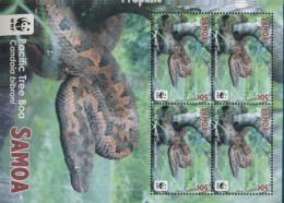 Samoa 1222-1225 Kleinbögen (kompl.Ausg.) Postfrisch 2015 Pazifik-Baumboa (9397310 - Samoa (Staat)