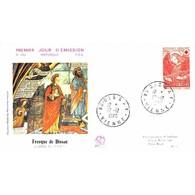 FDC - Emission Croix-Rouge 70, Fresques De Dissay -L'ange Au Fouet - 12/12/1970 Dissay - 1970-1979