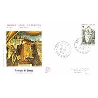 FDC - Emission Croix-Rouge 70, Fresques De Dissay - Seigneurs Du XVe Siècle - 12/12/1970 Dissay - 1970-1979