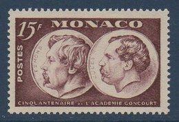 MON  1951 Cinquantenaire De L'académie Goncourt  N°YT 352  ** MNH - Monaco