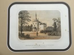 Belle Gravure Ancienne Château De Belgique De Waroux Commune D'alleur Canton De Glons à De Clercx De Waroux - Documents Historiques
