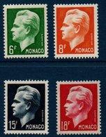 MON  1951 Effigie Du Prince Rainier III   N°YT 365-368 ** MNH - Monaco