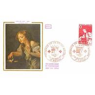 FDC - Croix-Rouge - Tableau De Greuze - L'oiseau Mort - 11/12/1971 Royan - 1970-1979