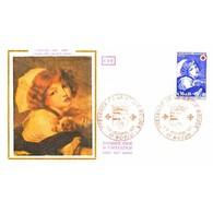 FDC - Croix-Rouge - Tableau Greuze (1725-1805), Jeune Fille Au Chien - 11/12/1971 Royan - 1970-1979