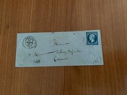 LETTRE  Du 22 Mars 1859 De LORGUES (var ) Pc 1760 Pour CANNES  ( Port Offert) - 1849-1876: Klassieke Periode