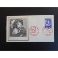FDC Thiaude - Croix-Rouge - Tableau De Greuze - 11/12/1971 Tournus - 1970-1979