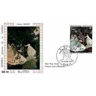 FDC PAC 882 - Tableau De Claude Monet - Au Jardin - 17/06/1972 Paris - 1970-1979