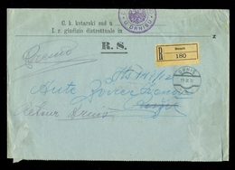 Austria, Dalmatia - Court Letter Sent By Registered Mail From Drniš 19.12. 1912. - Austria