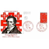 FDC - Croix-rouge 1972 - François Broussais, Médecin En Chef De L'armée D'Espagne - 16/12/1972 Luxeuil-les-Bains - 1970-1979